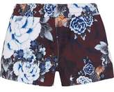 The Upside Floral-Print Scuba-Jersey Shorts