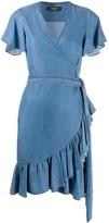 Twin-Set Twin Set ruffle trim short dress