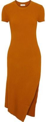 A.L.C. Minetta Asymmetric Ribbed-knit Dress
