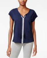 Lucky Brand Embroidered Pajama T-Shirt