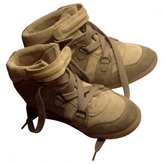 Isabel Marant Green Pony-style calfskin Trainers