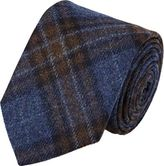 Barneys New York MEN'S FLANNEL NECKTIE-BLUE