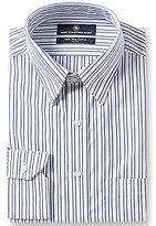 Hart Schaffner Marx Non-Iron Fitted Classic-Fit Hidden Button-Down Collar Dress Shirt