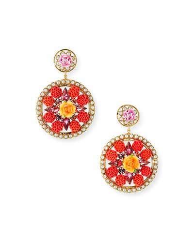 Dannijo Maddie Floral Statement Earrings