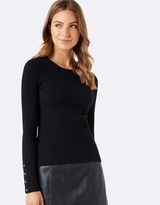 Forever New Joyce Rib Jumper With Buttons