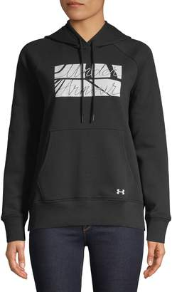 Under Armour Rival Fit Kit Favourite Fleece Graphic Hoodie