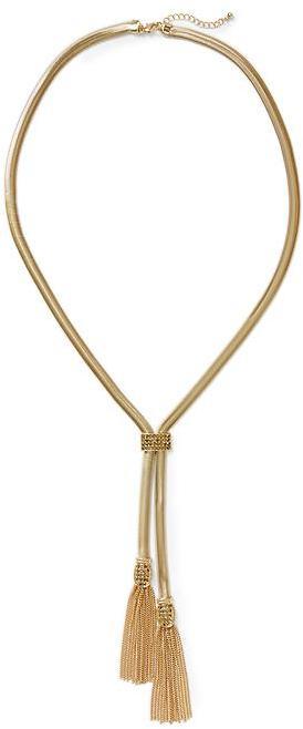 Pim + Larkin Gold Lariat Necklace