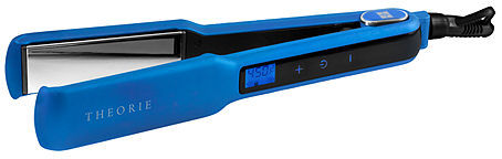 Theorie Saga Collection Touch Flat Iron, Blue Metallic Rubber, 1 1/2 inches 1 ea