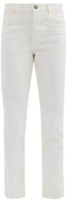 Raey Track High-rise Straight-leg Jeans - White