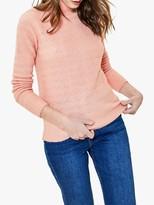 Oasis Wiggle Stitch Knit Jumper, Coral