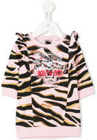 Kenzo Tiger embroidered sweatshirt - kids - Cotton - 9 mth