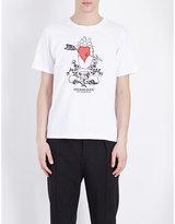 Undercover Heart Palm Cotton-jersey T-shirt
