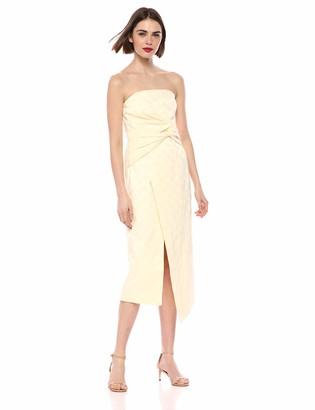 C/Meo Women's Strapless MIDI Sheath Dress