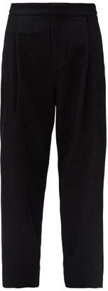 Sara Lanzi Wool-blend Twill Trousers - Black