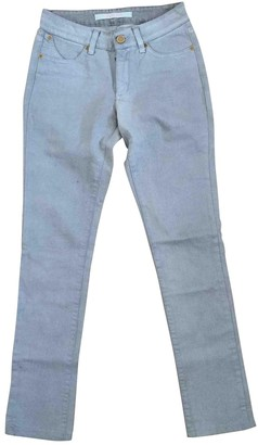 Superfine Silver Cotton - elasthane Jeans for Women