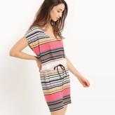 Best Mountain Striped Sleeveless Dress