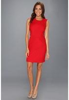 Calvin Klein Ponte Sleeveless Compression Dress (Red) - Apparel