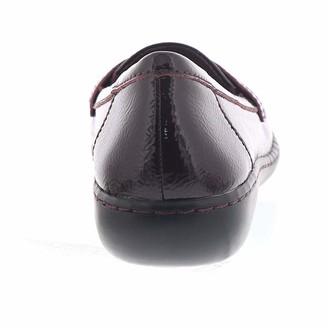 Clarks Women's Ashland Bubble Burgundy Patent Leather 9.5 A US