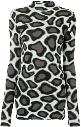 Proenza Schouler abstract spotted long-sleeve T-shirt