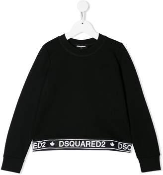 DSQUARED2 logo hem sweatshirt