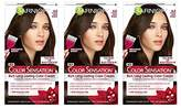 Garnier Color Sensation Hair Color Cream, 4.0 Snow Day Cocoa (Dark Brown), 3 Count (Packaging May Vary)