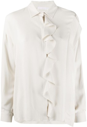 Fabiana Filippi Long-Sleeved Ruffled Detail Blouse