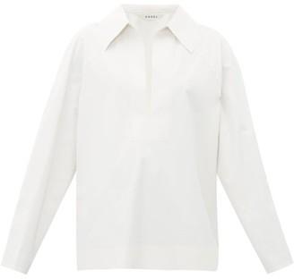 Kassl Editions Cotton-blend Canvas Shirt - White