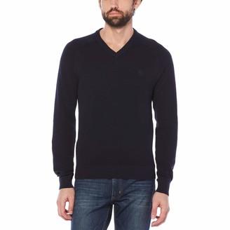Original Penguin Big & Tall Honeycomb V-Neck Sweater