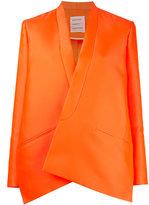 Maison Rabih Kayrouz oversized blazer - women - Silk/Polyester/Acetate/Cupro - 38