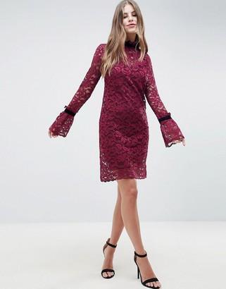 Hope & Ivy Shift Lace Dress