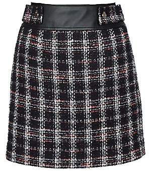 Maje Women's Jisido Tweed Mini Skirt