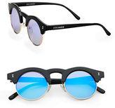 Steve Madden 53mm Mirrored Round Sunglasses