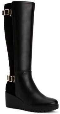 Giani Bernini Women's Memory Foam Wide-Calf Sannaa Boots, Created for Macys Women's Shoes
