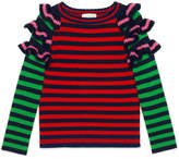 Gucci Children's striped wool ruffle sweater