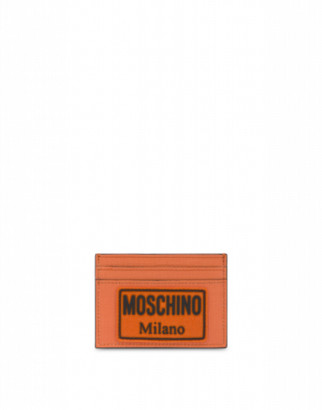 Moschino Label Cards Holder Man Orange Size U It - (one Size Us)