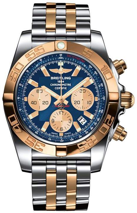 Breitling Stainless Steel and Gold Chronomat Automatic Watch 44mm