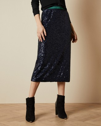 Ted Baker ANISA Sequin midi skirt