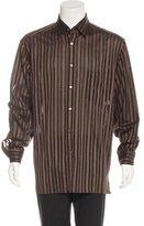 Ermenegildo Zegna Striped Woven Shirt