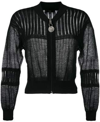 Diesel open stitch knit bomber jacket