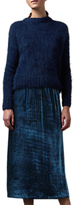 Toast Silk Velvet Skirt, Blue Dusk