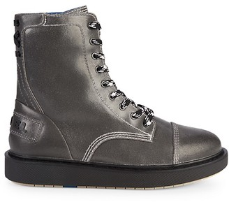 Diesel D-Cage Leather Combat Boots
