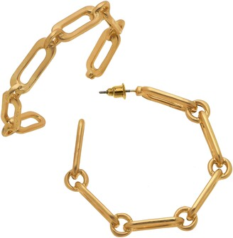 Canvas Jewelry Nora Chain Link Hoop Earrings