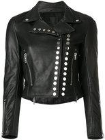 Alexander Wang studded biker jacket - women - Leather/Polyester - M