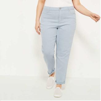 Joe Fresh Women+ Railroad Stripe Slim-Fit Jeans, Blue (Size 22)