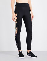 Ultracor Silk slash high-rise stretch-jersey leggings