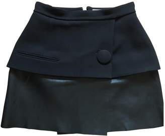 Balenciaga Black Leather Skirts