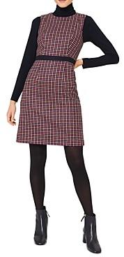 Hobbs London Penelope Checkered Sheath Dress