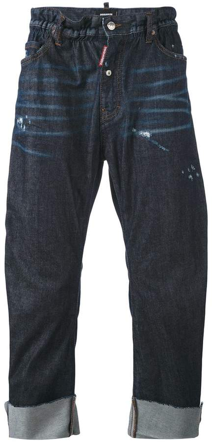 DSQUARED2 distressed loose fit jeans