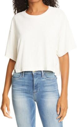 Frame Slit Hem Boxy Crop T-Shirt