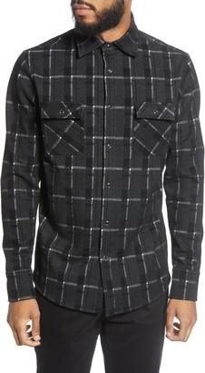 Karl Lagerfeld Paris Regular Fit Snap Front Shirt